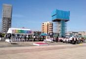 パシフィックビーナス寄港歓迎式